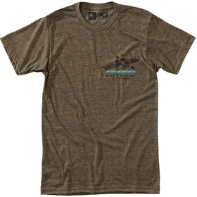 Hippy Tree Wingtip T-shirt Heren, heather brown